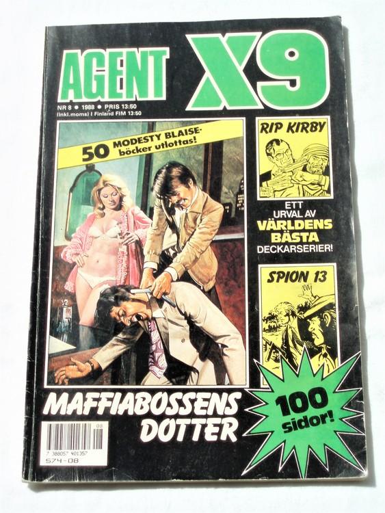 Agent X9 nr 8 1988 normalskick, normalslitet