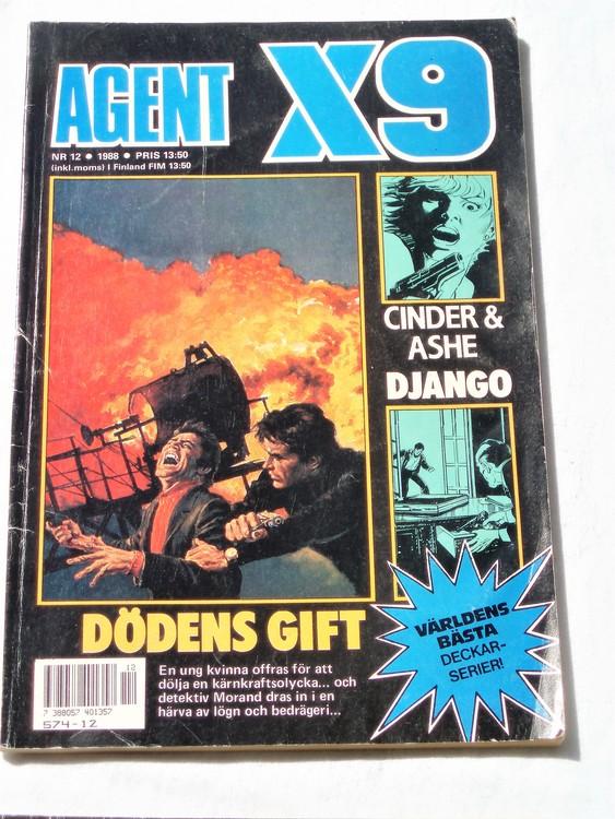 Agent X9 nr 12 1988 normalskick,normalslitet Semic press