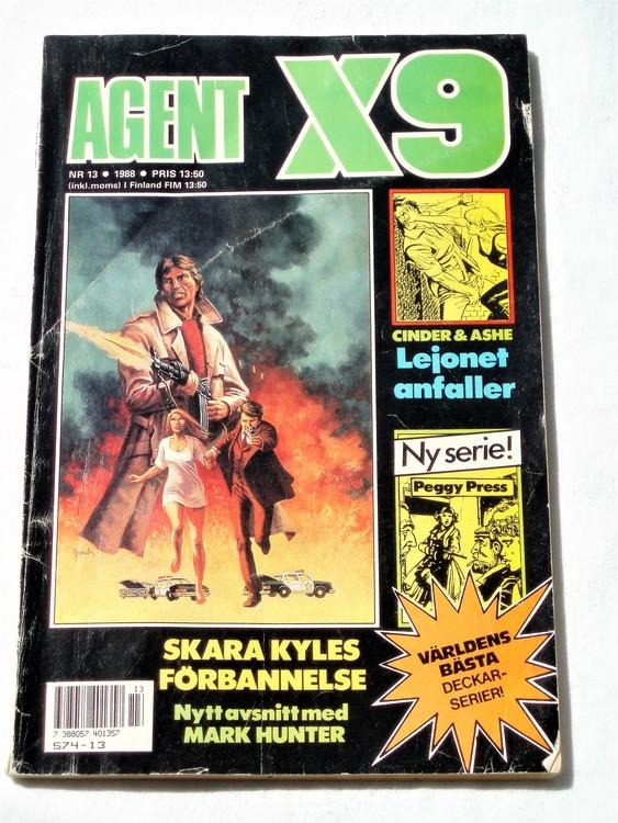 Agent X9 nr 13 1988 normalskick,normalslitet