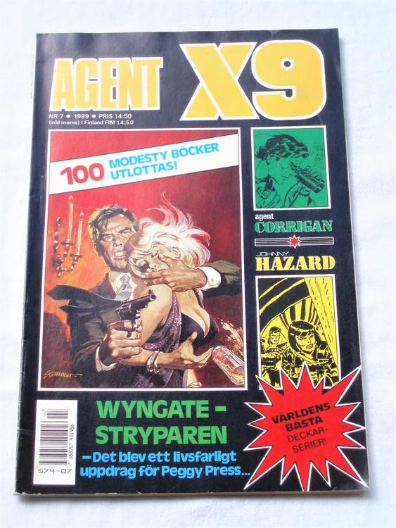 Agent X9 nr 7 1989 normalskick, normalslitet