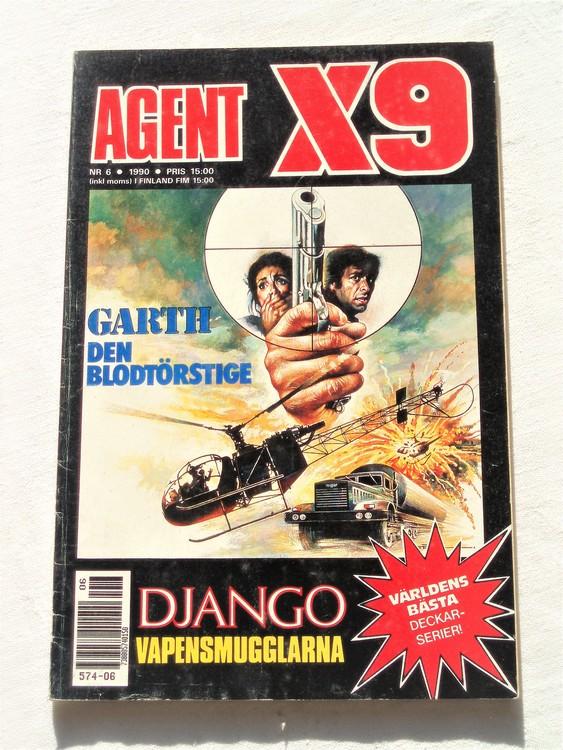 Agent X9 nr 6 1990,normalslitet,mycket bra skick