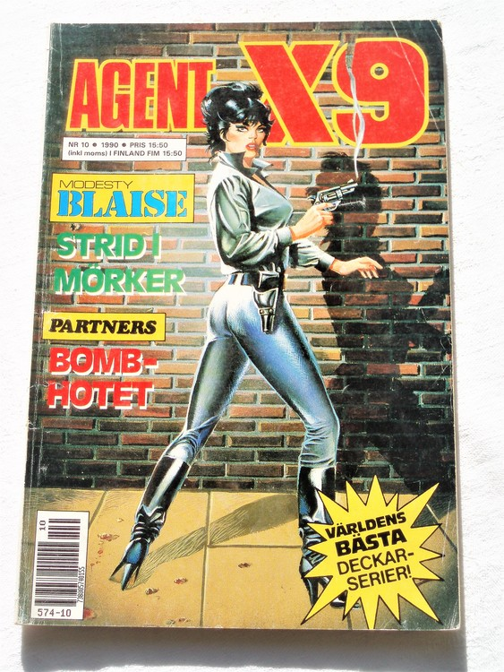 Agent X9 nr 10 1990,normalslitet,mycket bra skick