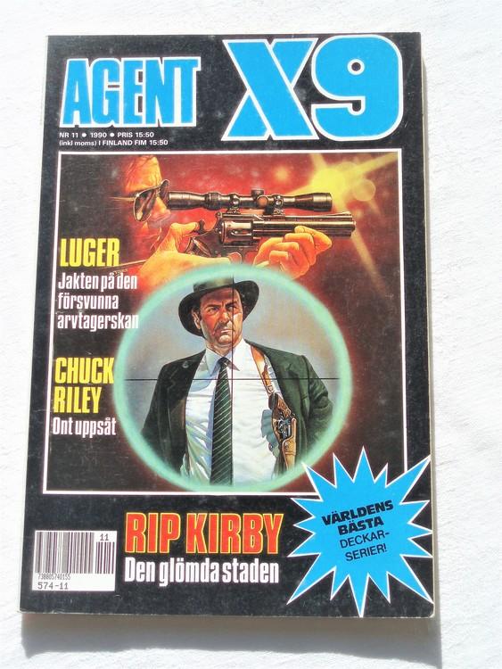 Agent X9 nr 11,1990 normalslitet,mycket bra skick