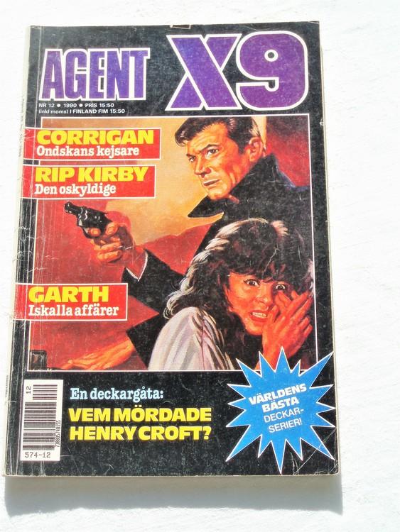 Agent X9 nr 12 1990 normalslitet,mycket bra skick