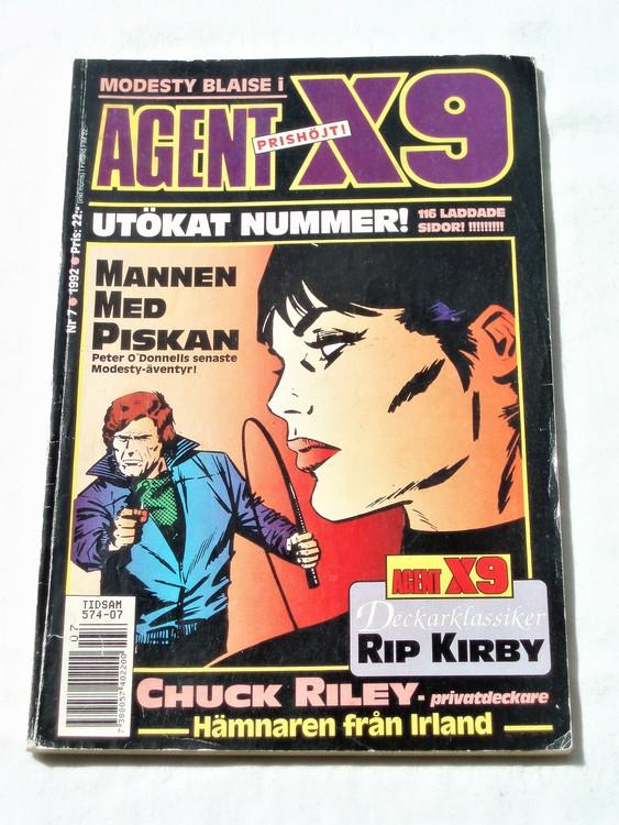 Agent X9 nr 7 1992 normalskick, normalslitet