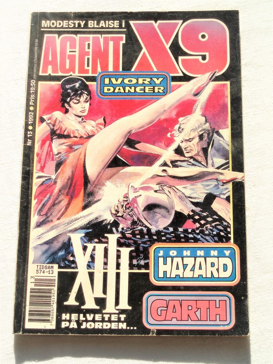 Agent X9 nr 13 1992 normalslitet,mycket bra skick