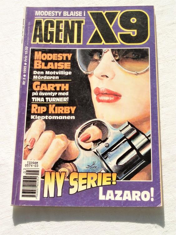 Agent X9 nr 3 1993 normalslitet,mycket bra skick