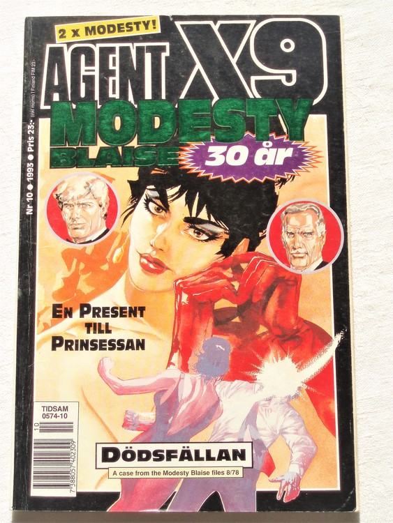 Agent X9 nr 10 1993 normalslitet,mycket bra skick