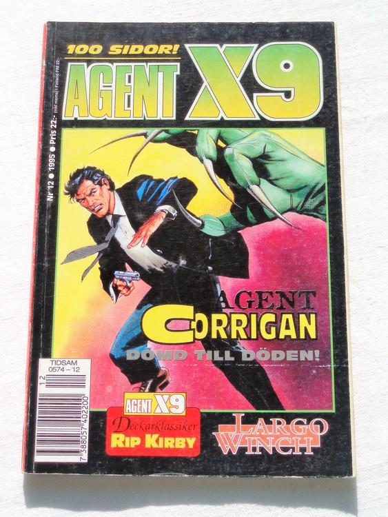 Agent X9 nr 12 1995 normalslitet,mycket bra skick