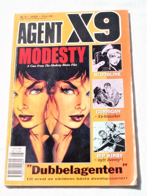 Agent X9 nr 8 2000 normalskick, normalslitet