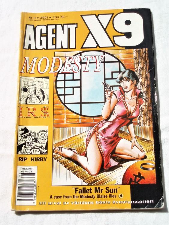 Agent X9 nr 8 2001 normalskick, normalslitet