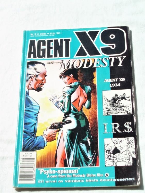 Agent X9 nr 9 2001 normalskick, normalslitet
