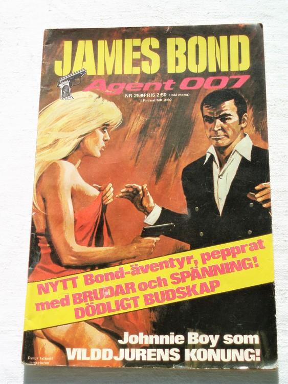 "James Bond ""Agent 007"" nr25 1973 mycket bra skick"