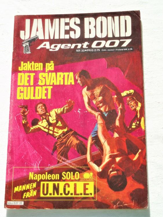 """James Bond Agent 007 nr33 1975 """"Jakten på det svarta guldet""""mycket bra skick"""