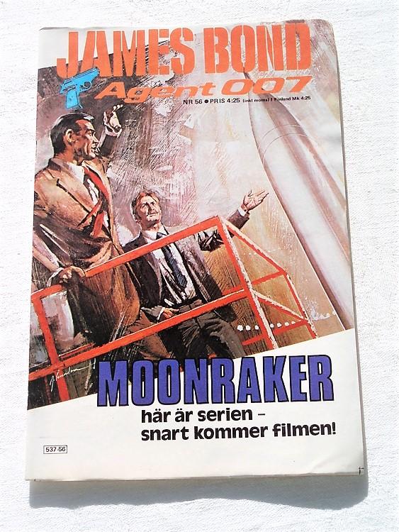 """James Bond Agent 007 nr 56 1979 """"Moonraker""""mycket bra skick"""