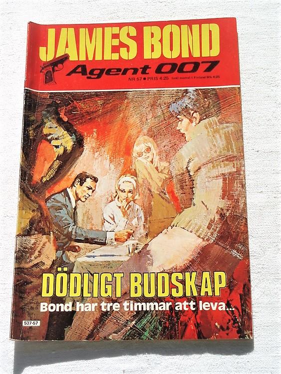 """James Bond Agent 007 nr 57 1979 """"Dödligt Budskap""""mycket bra skick"""