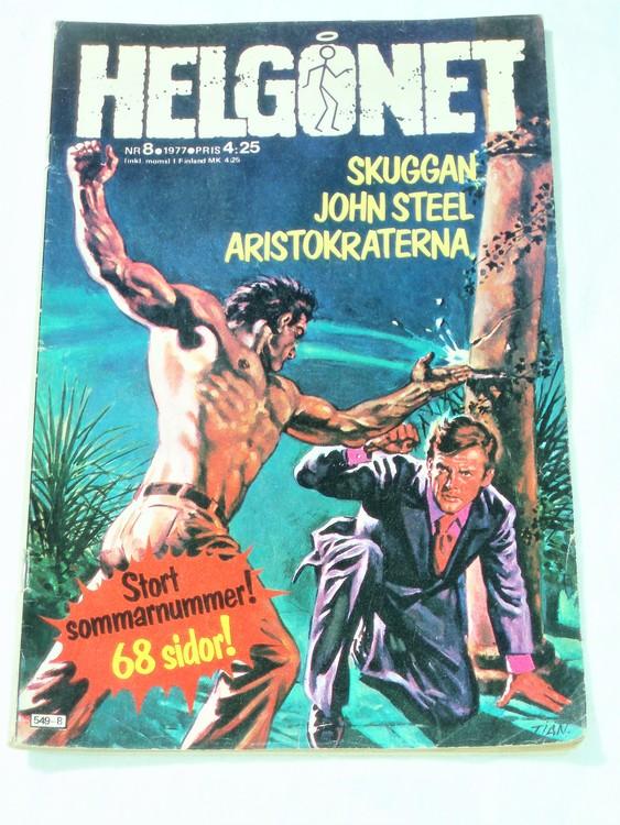 """Helgonet """"Skuggan""""nr 8 1977 bra skick, semic,lite nött längst ner rygg."""