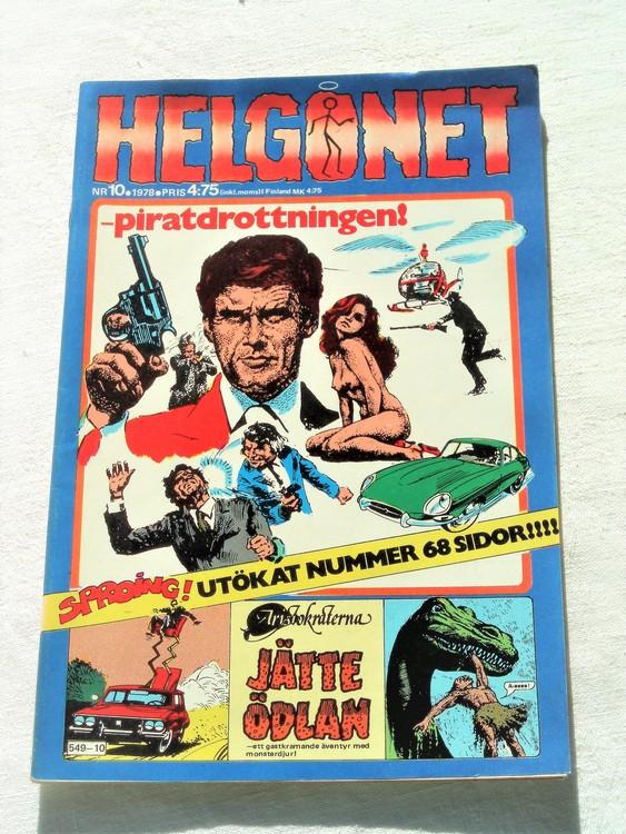 "Helgonet ""Piratdrottningen""nr10 1978 mycket bra skick,nyskick"