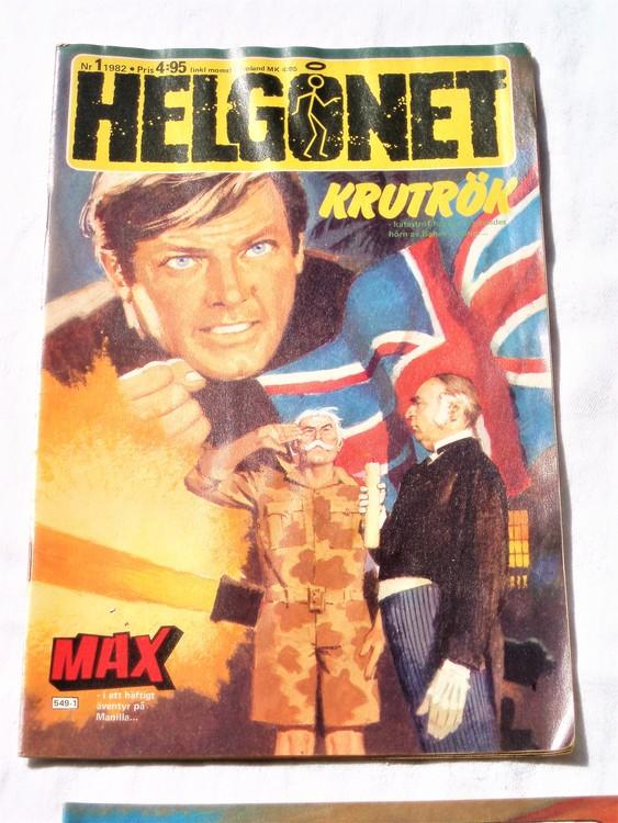 "Helgonet ""Krutrök""nr1 1982 bättre skick, semic"