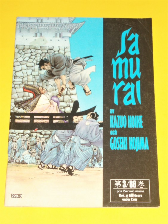 Samurai nr 3 1988, VG, normalskick, normalslitet, inga direkta defekter