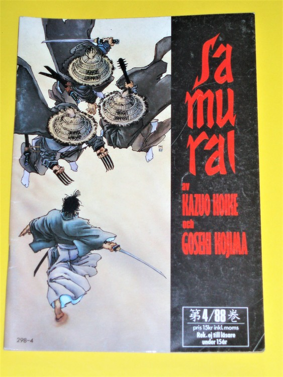 Samurai nr 4 1988, VG, normalskick, normalslitet, inga direkta defekter