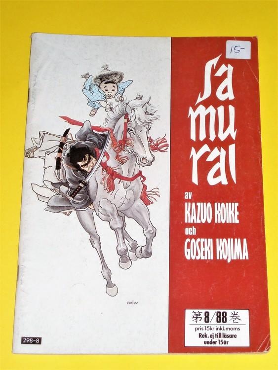 Samurai nr 8 1988, VG, normalskick, normalslitet, inga direkta defekter