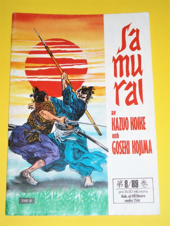 Samurai nr 8 1989, VG, normalskick, normalslitet, inga direkta defekter