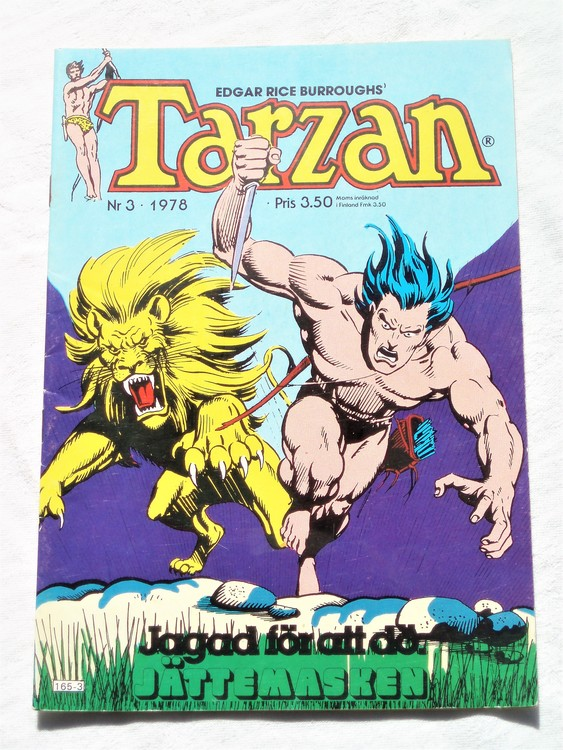 Tarzan nr 3, 1978 mycket bra skick