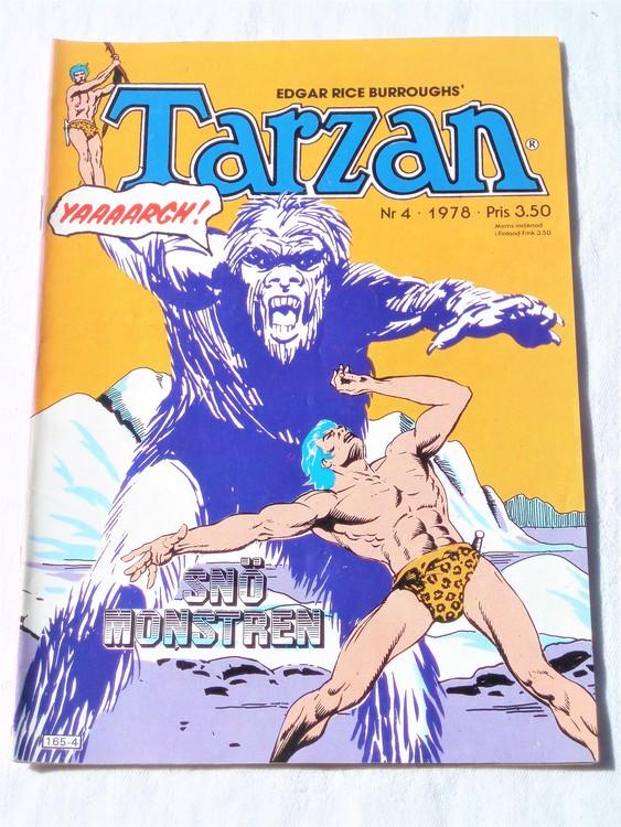 Tarzan nr 4, 1978 mycket bra skick