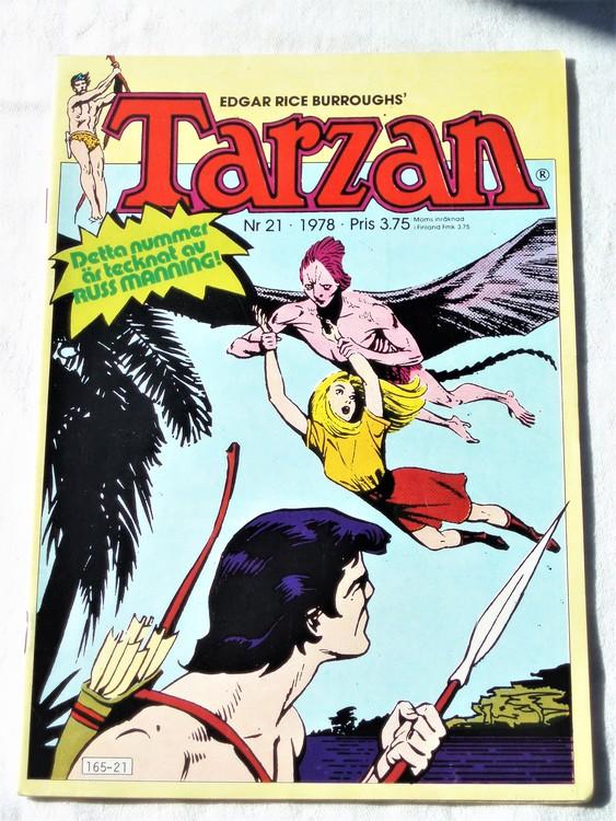 Tarzan nr 21 1978 mycket bra skick