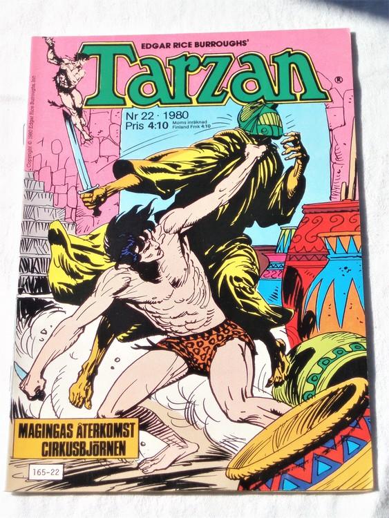 Tarzan nr 22, 1980 mycket bra skick