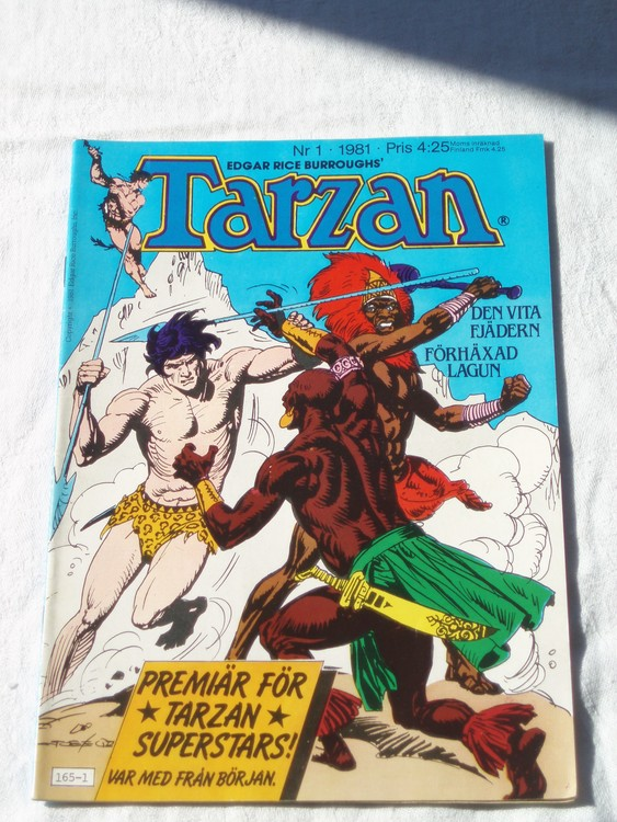 Tarzan nr 1, 1981 mycket bra skick