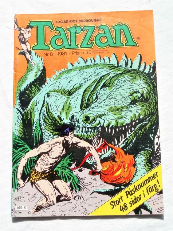 Tarzan nr 8, 1981 mycket bra skick