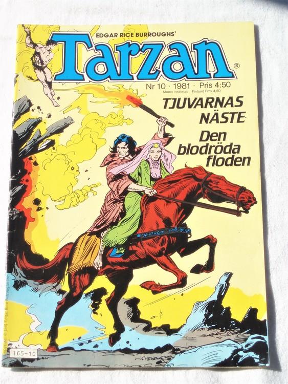 Tarzan nr 10, 1981 mycket bra skick