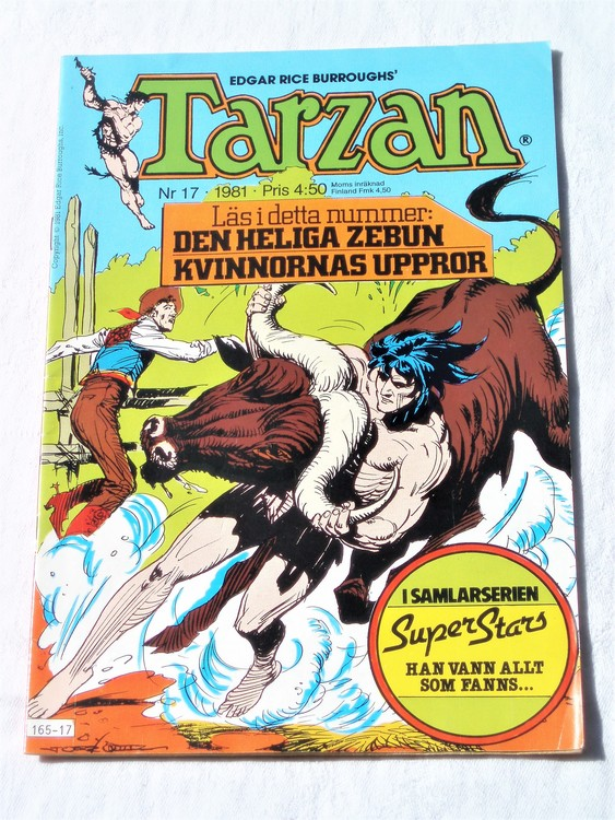 Tarzan nr 17, 1981 mycket bra skick