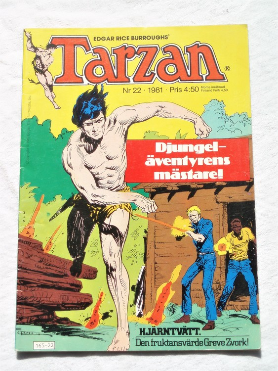 Tarzan nr 22, 1981 mycket bra skick