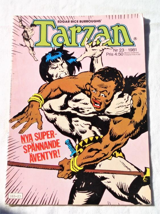 Tarzan nr 23, 1981 bra skick,lite nött uppe,nere,rygg