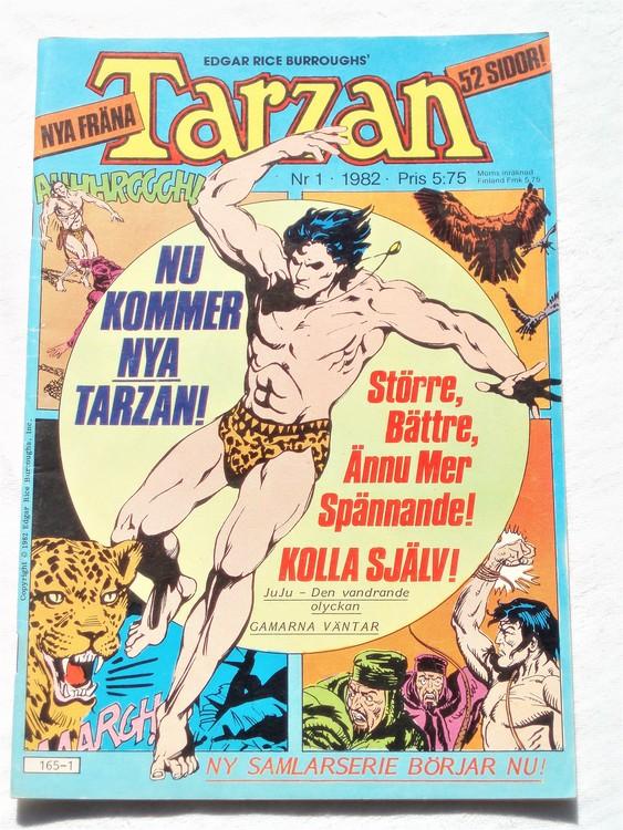 Tarzan nr 1, 1982 mycket bra skick