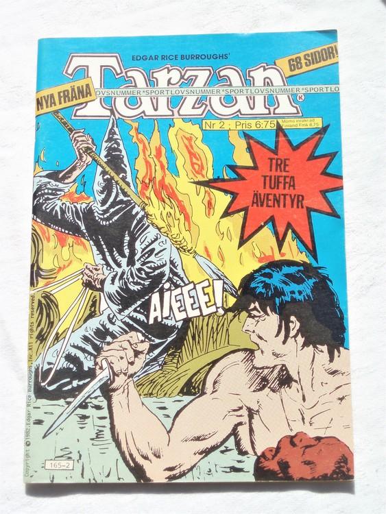 Tarzan nr 2, 1982 mycket bra skick.