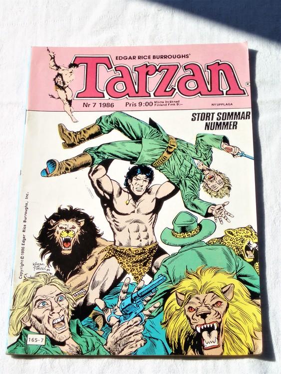 Tarzan nr 7, 1986 mycket bra skick