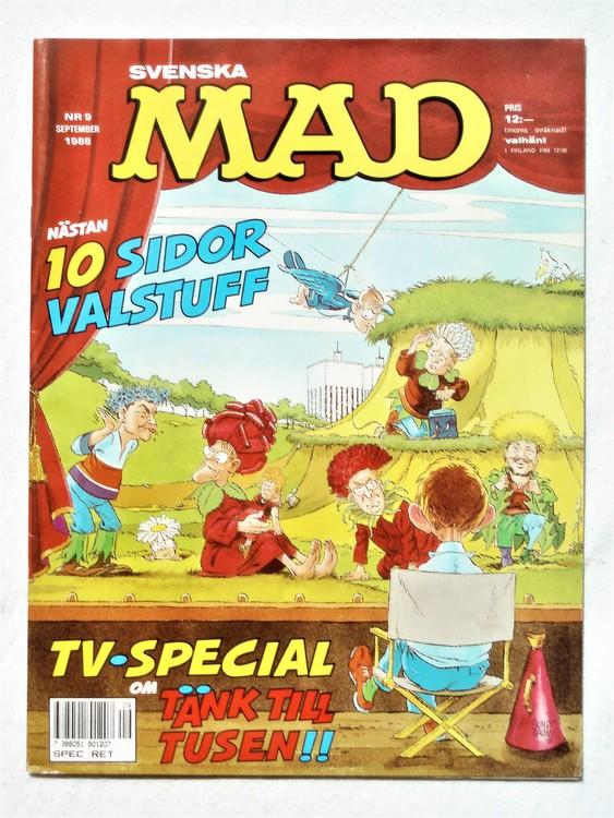 Svenska Mad nr 9 1988 mycket bra skick