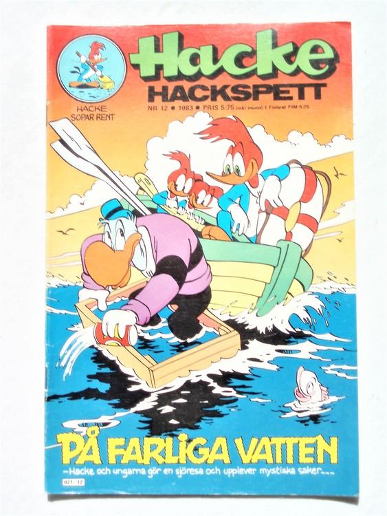 Hacke Hackspett nr 12 1983 normalslitet, normalskick