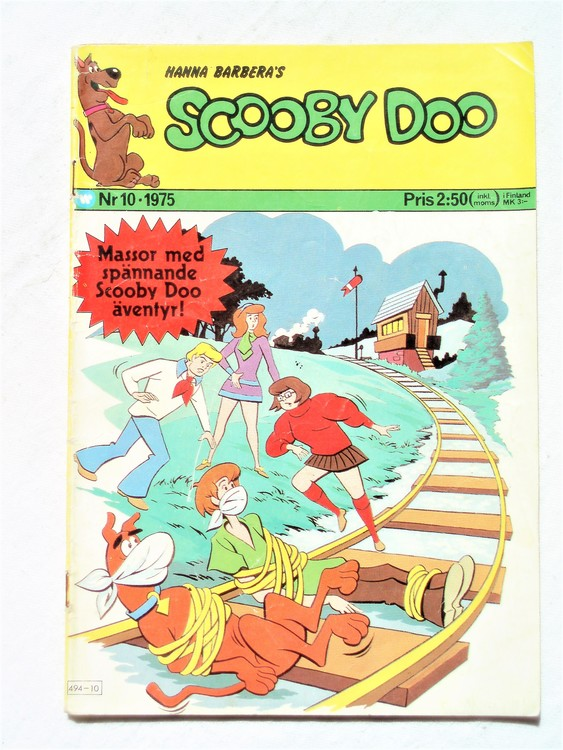 Scooby Doo nr 10 1975 normalslitet, normalskick