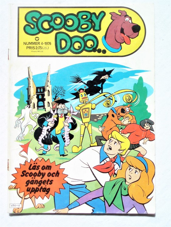 Scooby Doo nr 4 1976 normalslitet, normalskick