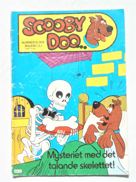 Scooby Doo nr 10 1976 normalslitet, normalskick