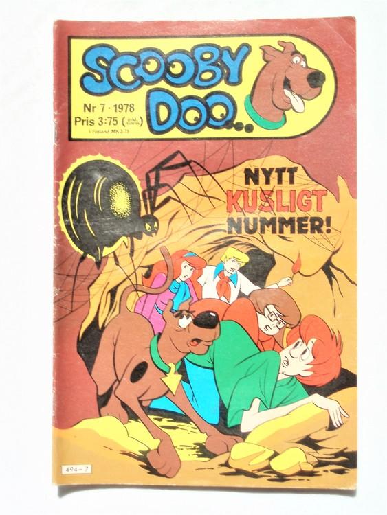 Scooby Doo nr 7 1978 normalslitet, normalskick