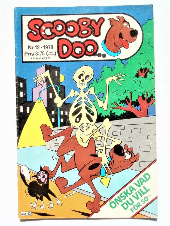 Scooby Doo nr 12 1978 normalslitet, normalskick
