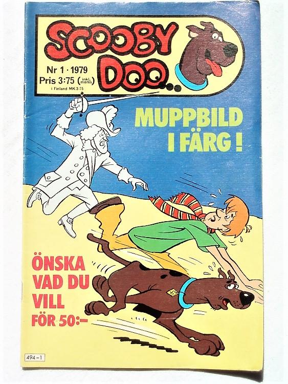 Scooby Doo nr 1 1979 normalslitet, normalskick