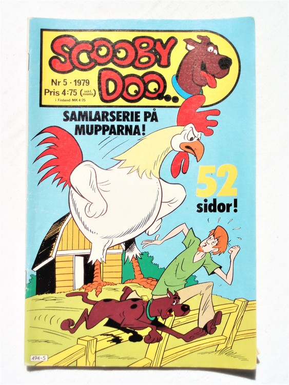 Scooby Doo nr 5 1979 normalslitet, normalskick