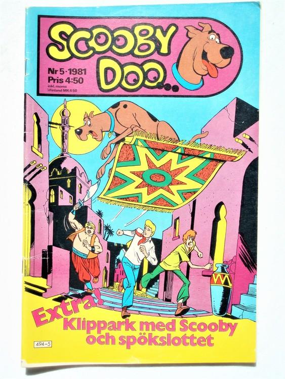Scooby Doo nr 5 1981 normalslitet, normalskick